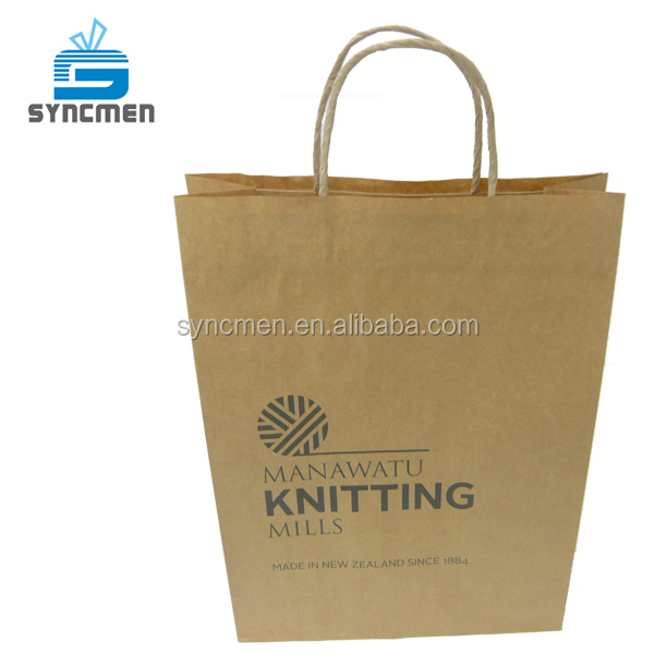 OEM Cheap Portable Brown Kraft Grocery Brown Kraft Paper Bag