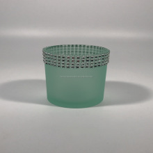 margarita frosted green glass candle sleeves