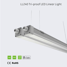 hot sale ce rohs 1200mm/1500mm full PC IP66 waterproof shower light lighting fixture