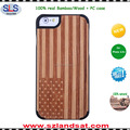 2016 New custom real wood pc case for laser engraved wood iphone 6s 6 plus case IPC337H