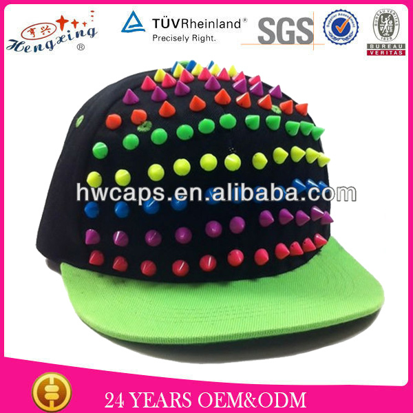 2013 Fashion Stylish 6 Panel Colorful Sequin Snapback Cap