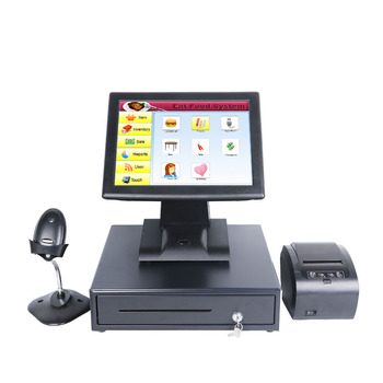 Cheap Retail 15 inch lcd  All In One Touch Screen Desktop POS PC  for restaurant