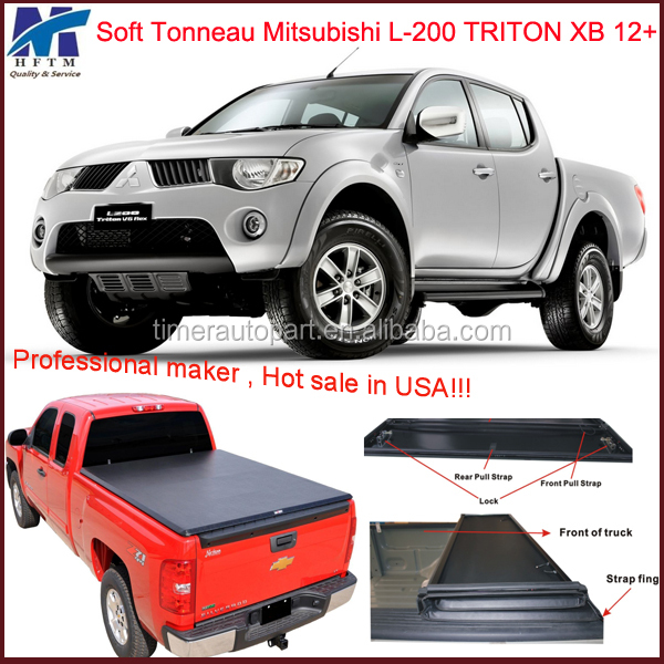 Discount custom parts Mitsubishi L200 accessories Triton XB 2012+ tonneau covers