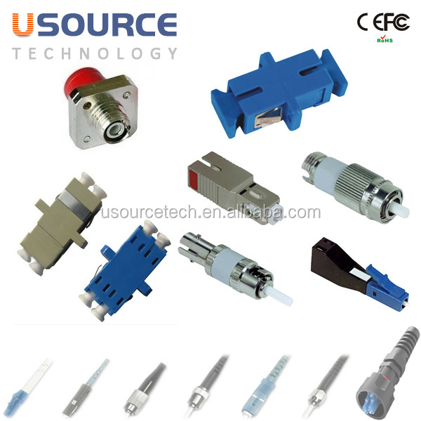 sc sma st fc lc e2000 hybrid fiber optic adapter