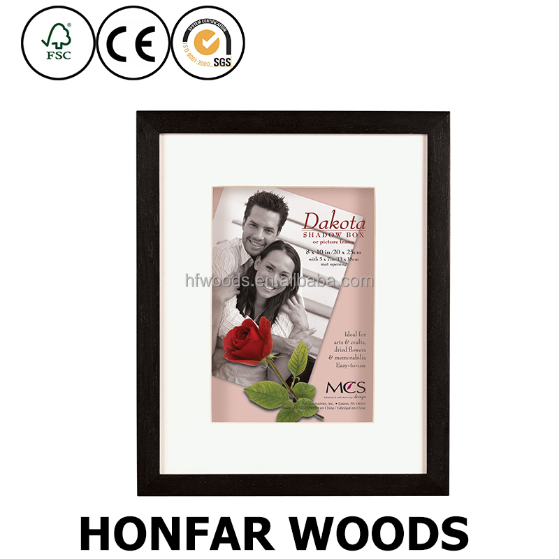 solid wood black bf photo frame picture frames with white mat