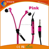 High quality mobile phone metal in-ear stereo wired earphone for mobile phone