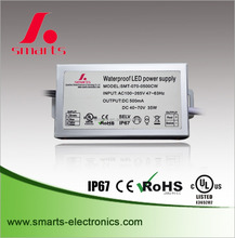 AC/DC constant current 1050ma 36W led driver for outdoor door lamp