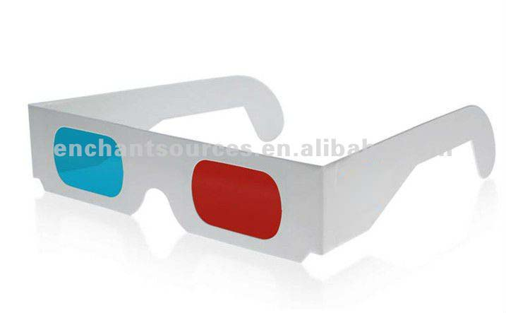 customized logo 3d Paper glasses
