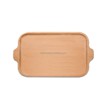 Natural color simple fast food beech wood serving trays