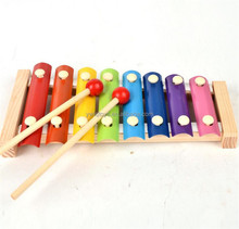 FQ band hot sell children education color intelligence wooden mini xylophone