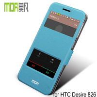 MOFi Smart Phone Leather Flip Cover for HTC Desire 826, With Smart Window, Back Cover Case for HTC Desire 826
