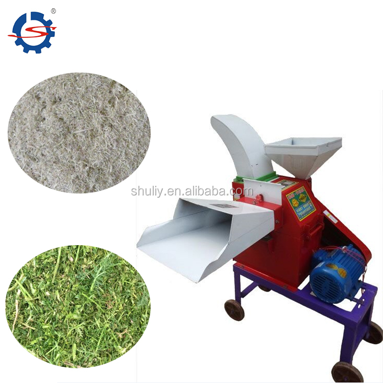 400kg/h electric grass cutting machine/electric animal Chaff Cutter/feed grass chopper