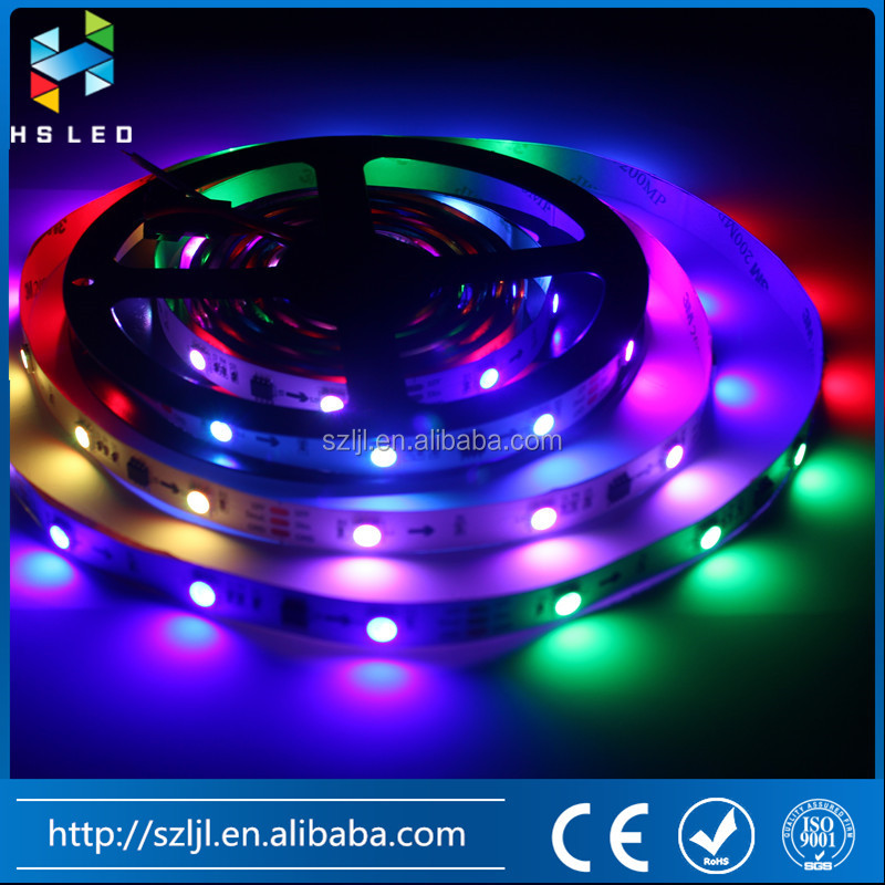 32leds/m DC12V DMX 512 addressable LED strip RGB IC Outer led strip 5050