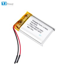 Rechargeable lipo 802030 3.7V 420mAh lithium ion li polymer battery pack with pcm and wires