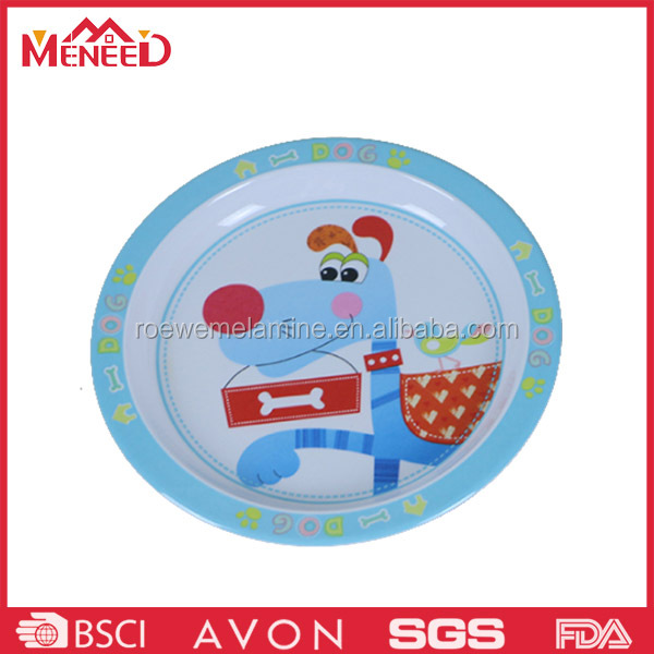 8 inch food security unbreakable melamine children plate