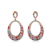 New arrival luxurious jewelry fancy earrings for party girls made with Swarovski elements