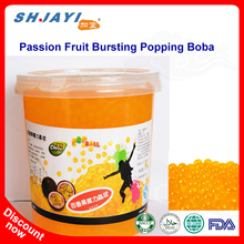 New Product Passion Fruit Flavor Popping Boba Fruit Juice In Popping Balls Bursting Boba For Bubble Tea Ingredients