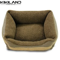 Luxury jute trim brown canvas dog beds house