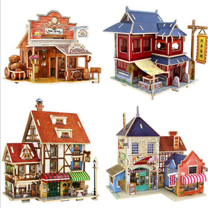 Happy large 3d wooden puzzle for adults