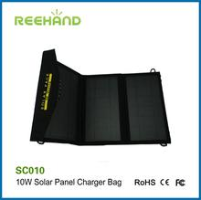 10W foldable solar charger bag solar power pack for outdoor use