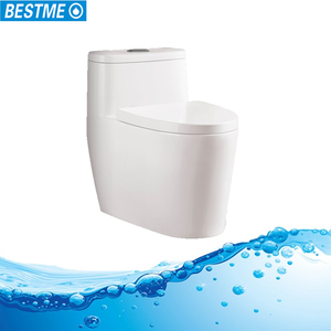 Jet sprial siphonic one piece bathroom ceramic toilet