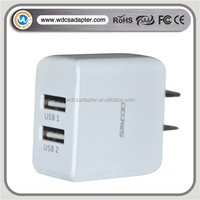 China Shenzhen power adap offer dual USB charger double input ports