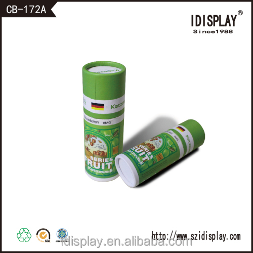 Customized cardboard cylinder Chinese tea packaging gift box with clear window