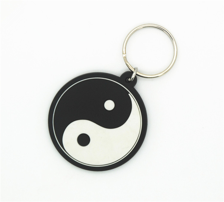 Promotional gift Custom pvc keychain metal keyring with high quality