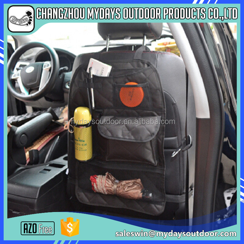 Practical hanging bag car organizer with air permeability