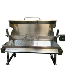 Safe natural LPG large gas pig lamb bbq spit roaster grill with lid