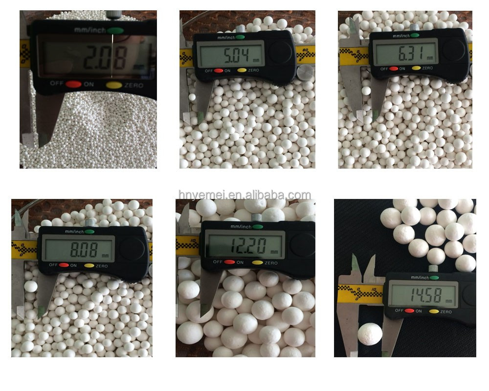 Wholesale 1-2mm 2-4mm 3-5mm 4-6mm Sphere Desiccant Activated Alumina