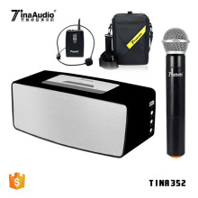 2018 new active sound system big power portable wireless karaoke trolley speaker with wireless mic