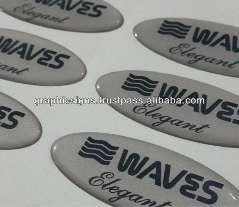 3D Logo Self Adhesive Doming Sticker