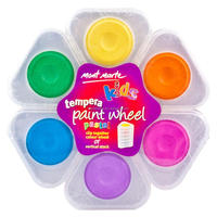 Mont Marte Kids Tempera Paint Wheel 6pce - Pastel