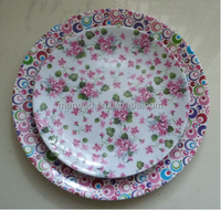 "European pastoralism city style flower point spring blossom round 10.5"" dinner plate"