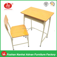 High Quality Plywood with Fireproof Laminated Board Study Tables and Chairs School Sets for students