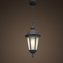 Outdoor pendant lantern lights with clear seedy glass (SP3800-M)