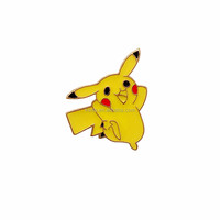 Custom metal Pikachu cartoon character soft enamel lapel pin in high quality