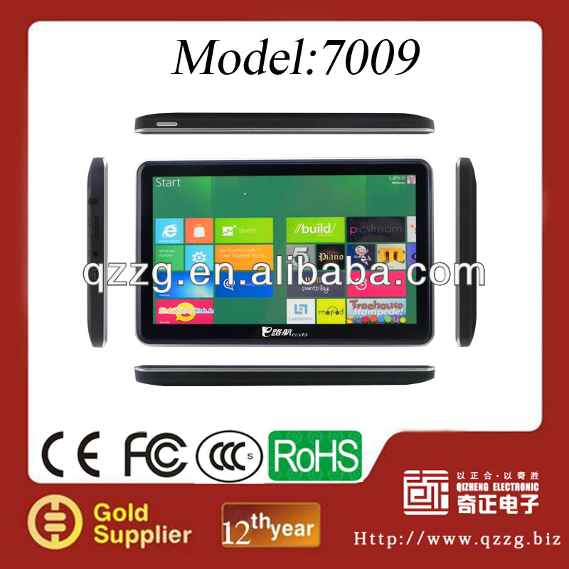 2013 popular model 7inch GPS chip price navigation for truck with 800MHZ