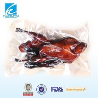 transparent nylon pe vacuum bag for frozen chicken meat packing