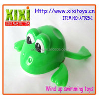 14.3Cm hot sale plastic wind up swimming frog toys