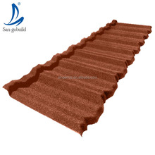 Wholesale roofing shingles New material factory price south africa popular color stone chip coated steel roofing tile