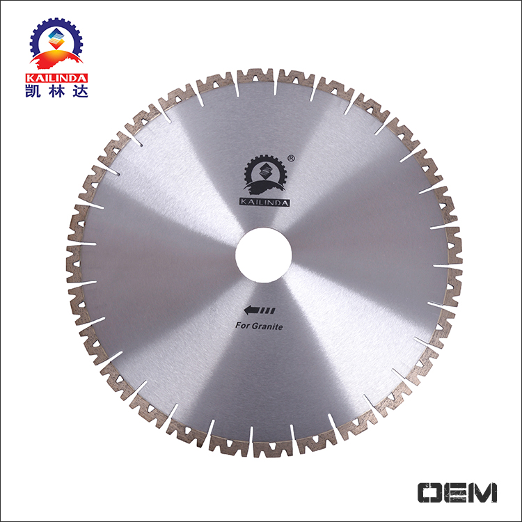 Low noise 400mm diamond cutting tools W shape segment granite cutting saw blade