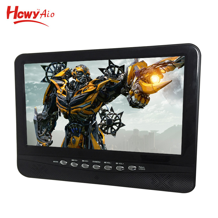 Top ATSC 9inch Portable DVB-T2 LCD TV 720P HD For Mini Digital TV 7 inch ATSC Mini TV