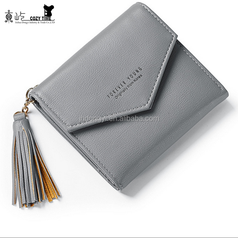 Large capacity clasp leather <strong>wallet</strong> short women <strong>wallet</strong> lovely for girl