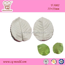 Best sale veined molds silicones,fondant rose leaf decoration molds hard silicone molds