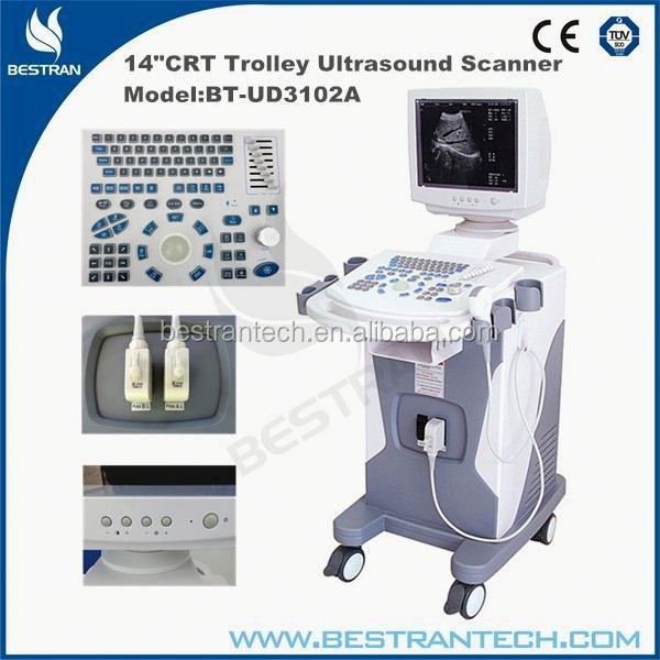 "BT-UD3102A 14""CRT Full-digital Trolley buy price of the ultrasound machine factories"