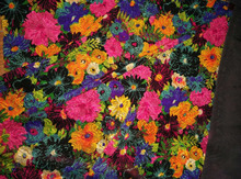 beautiful flower screen printed velvet 2016 wholesale