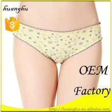 Soft yellow breathable cotton c-string