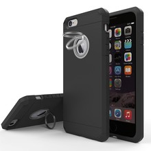 360 Degree Rotating Ring Holder Kickstand slim armor mobile phone case for iphone 7